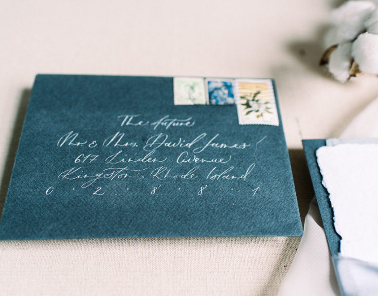 AMBER DAWN PHOTOGRAPHY | COASTAL ELOPEMENT STATIONERY INSPIRATION | STATIONERY & CALLIGRAPHY BY LITTLE DUCK CALLIGRAPHY