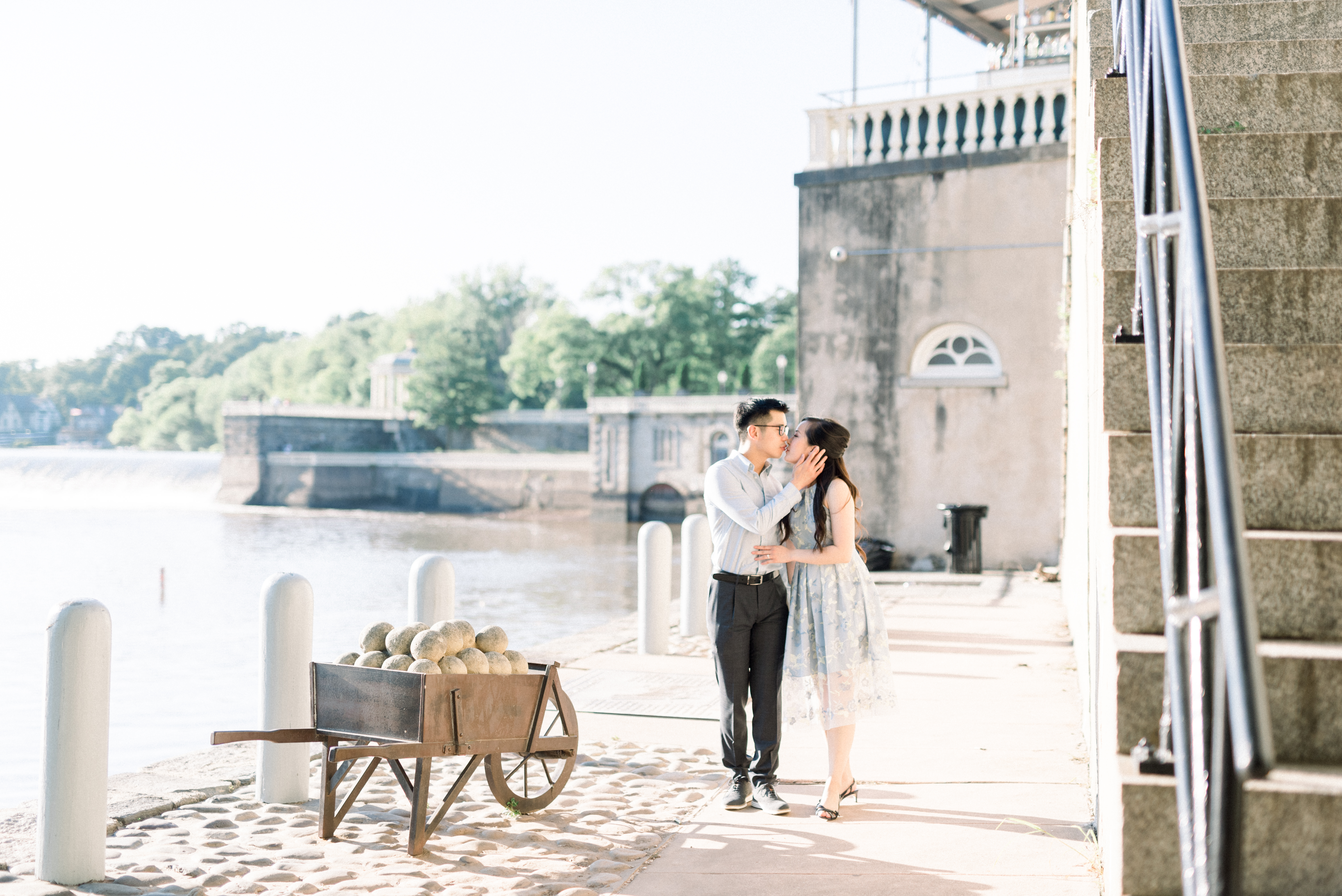 Cescaphe Water Works Philadelphia Art Museum Engagement Bucks County Wedding Photography Amber Dawn Photography