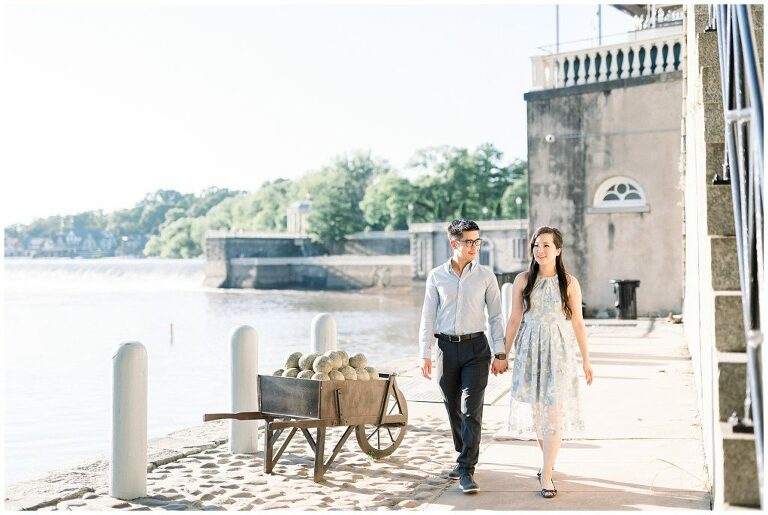 Philadelphia Art Museum Engagement Cescaphe Water Works | Photo by Amber Dawn Photography