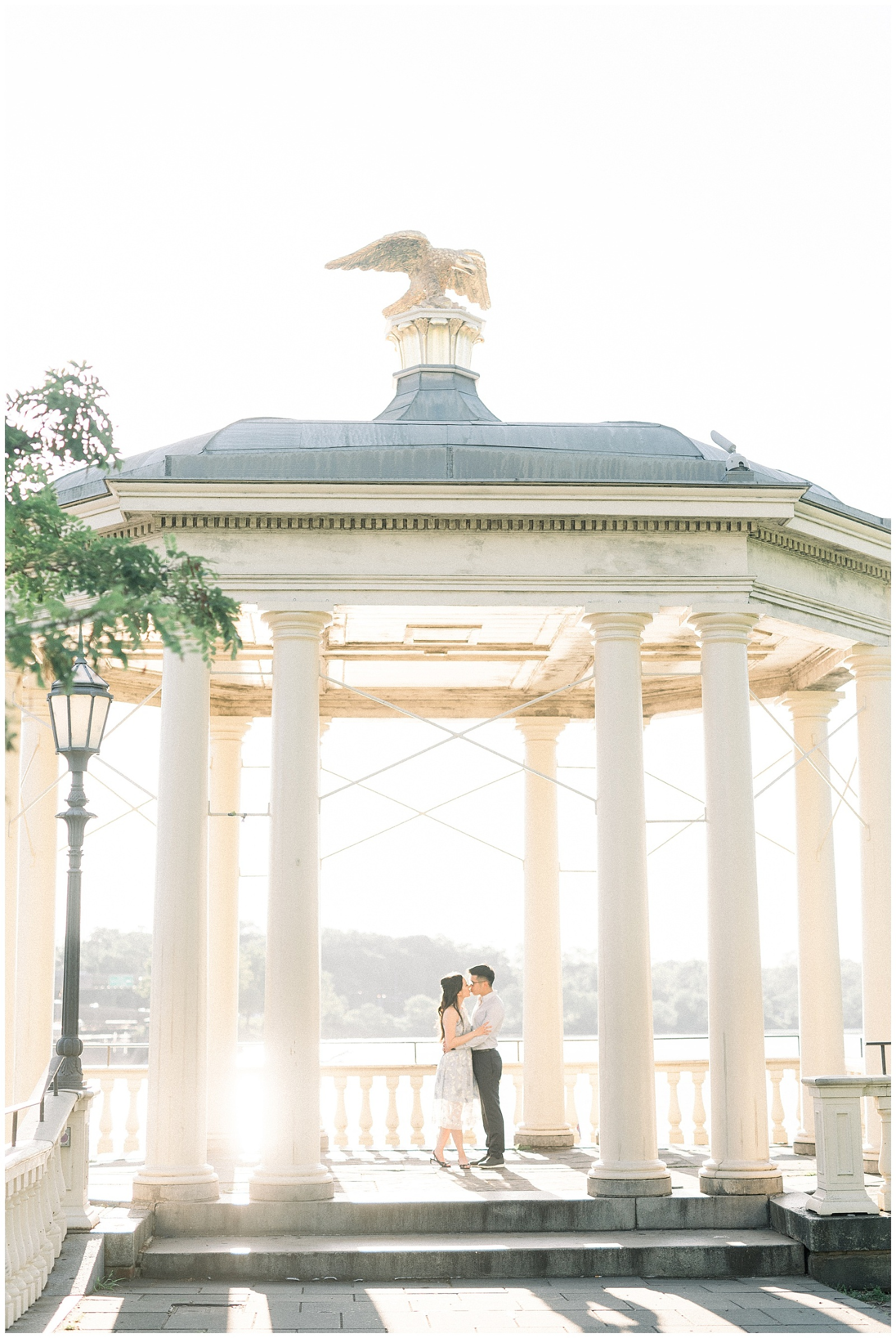 Philadelphia Art Museum Engagement Cescaphe Water Works   Photo by Amber Dawn Photography