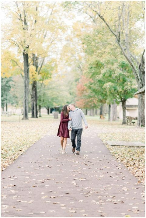 Washington Crossing Park Engagement | Photos by Philadelphia and Bucks County Light and Airy Photographer Amber Dawn Photography