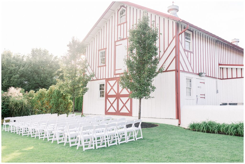 Ceremony space at Normandy Farm