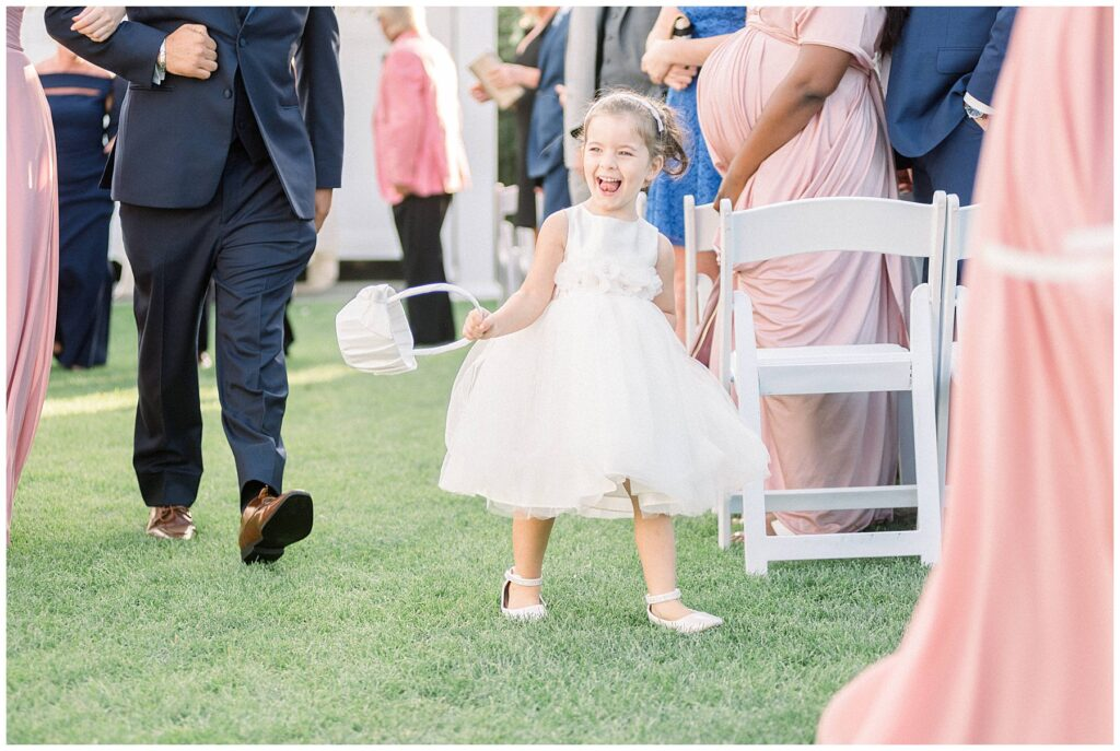 Flower girl at Normandy Farm