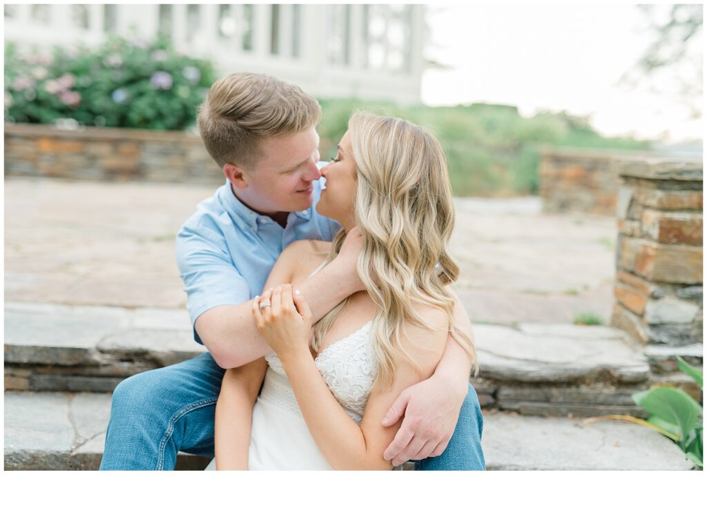 Engagement session at Glen Foerd on the Delaware